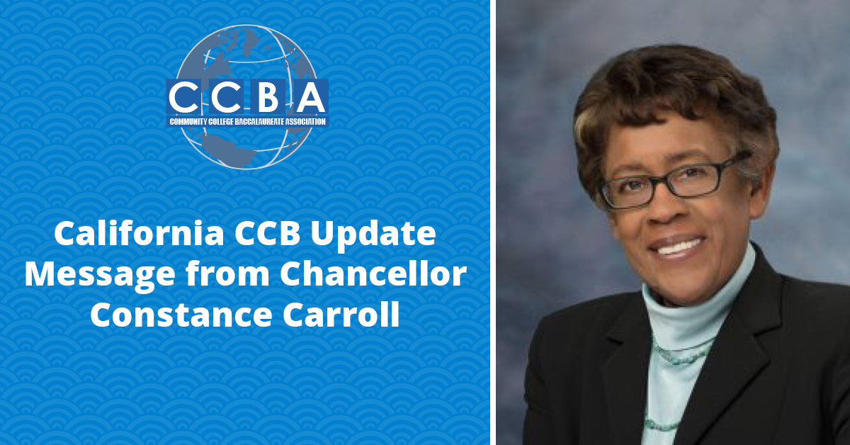 Community College Baccalaureate Association | Chancellor Constance Carroll